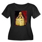 Infanta Women's Plus Size Scoop Neck Dark T-Shirt