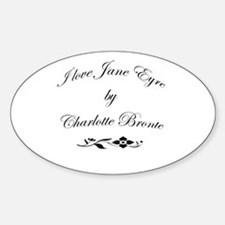 I love Jane Eyre Oval Decal