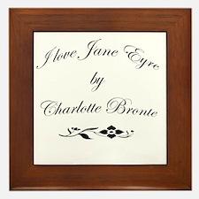 I love Jane Eyre Framed Tile