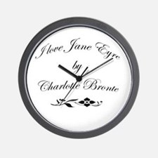 I love Jane Eyre Wall Clock