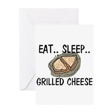 Eat ... Sleep ... GRILLED CHEESE Greeting Card