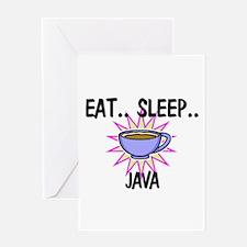 Eat ... Sleep ... JAVA Greeting Card
