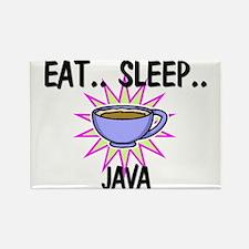 Eat ... Sleep ... JAVA Rectangle Magnet