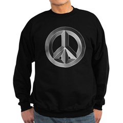 Silver Peace Sign Sweatshirt