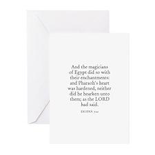 EXODUS  7:22 Greeting Cards (Pk of 10)