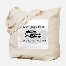 Silver Volvo Drivers Tote Bag