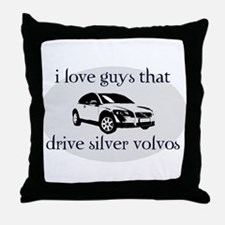 Silver Volvo Drivers Throw Pillow