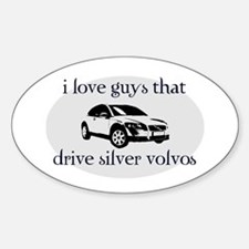 Silver Volvo Drivers Oval Decal