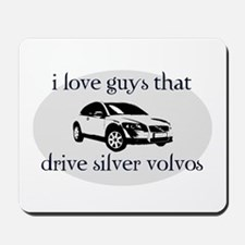 Silver Volvo Drivers Mousepad