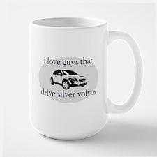 Silver Volvo Drivers Large Mug