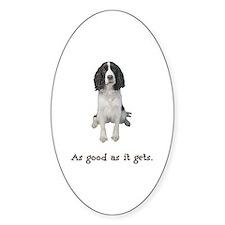 Good Springer Spaniel Oval Sticker