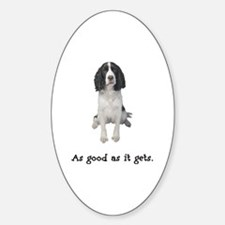 Good Springer Spaniel Oval Decal