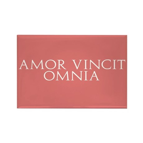 amor vincit omnia rectangle magnet by alternateworlds. Black Bedroom Furniture Sets. Home Design Ideas