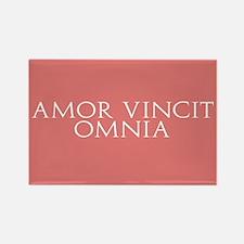 Amor Vincit Omnia Rectangle Magnet