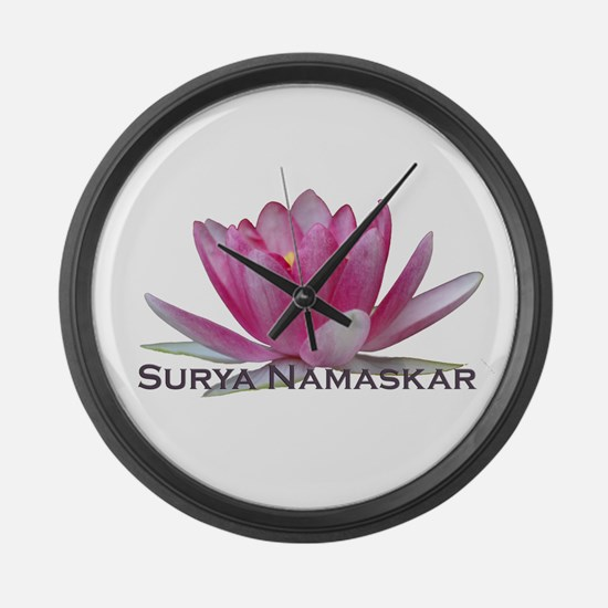 Surya Namaskar Large Wall Clock