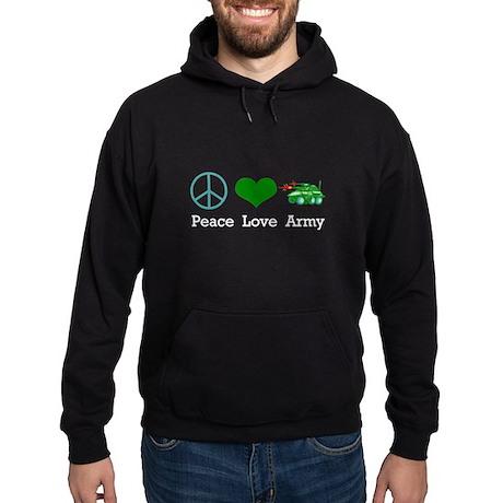Peace Love Army Hoodie (dark)