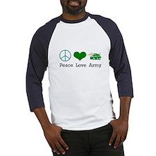 Peace Love Army Baseball Jersey