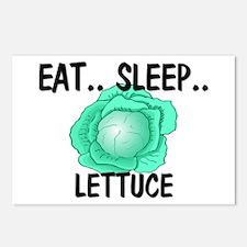 Eat ... Sleep ... LETTUCE Postcards (Package of 8)