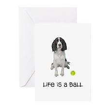 Springer Spaniel Life Greeting Cards (Pk of 10)