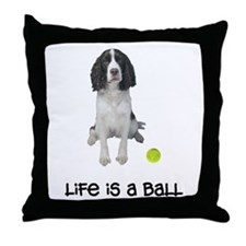 Springer Spaniel Life Throw Pillow