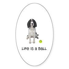 Springer Spaniel Life Oval Decal