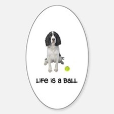 Springer Spaniel Life Oval Decal