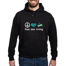 Peace Love Knitting Hoodie