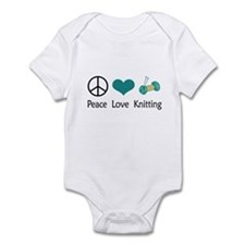Peace Love Knitting Infant Bodysuit