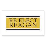 Re-Elect Reagan Sticker