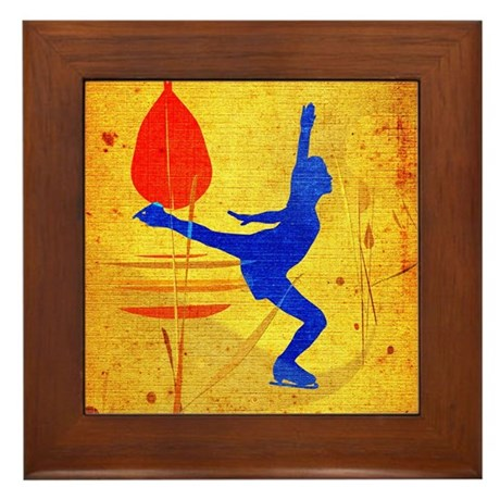 Figure Skating Framed Tile