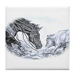 Cutting Horse Tile Coaster