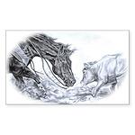Cutting Horse Rectangle Sticker