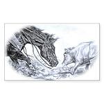 Cutting Horse Rectangle Sticker 50 pk)