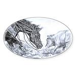 Cutting Horse Sticker (Oval)