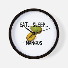 Eat ... Sleep ... MANGOS Wall Clock