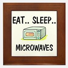 Eat ... Sleep ... MICROWAVES Framed Tile