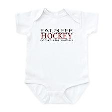 Eat Sleep Hockey Infant Bodysuit