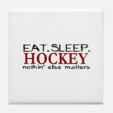 Eat Sleep Hockey Tile Coaster