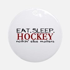 Eat Sleep Hockey Ornament (Round)