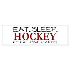 Eat Sleep Hockey Bumper Car Sticker