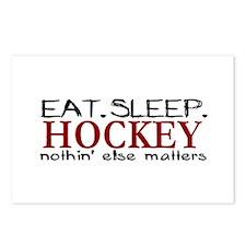 Eat Sleep Hockey Postcards (Package of 8)