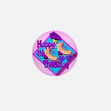 4th Birthday Mini Button