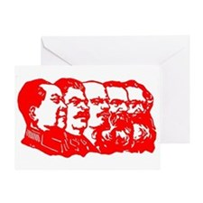Mao,Stalin,Lenin,Engels,Marx Greeting Card
