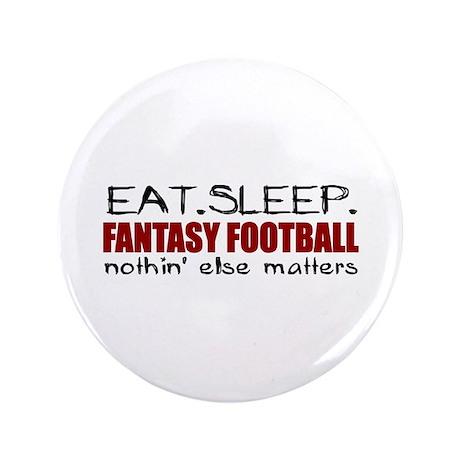 "Eat Sleep Fantasy Football 3.5"" Button (100 pack)"