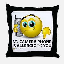 Camera Phone Throw Pillow
