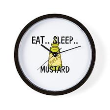 Eat ... Sleep ... MUSTARD Wall Clock