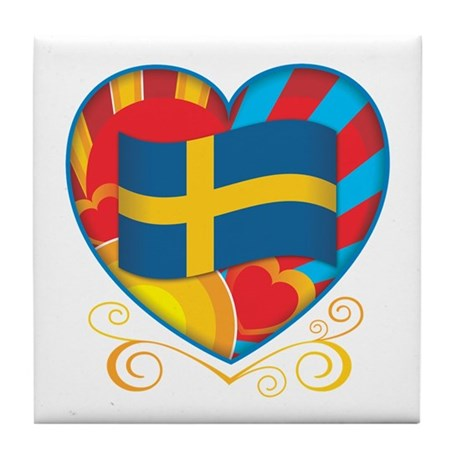 Swedish Heart Tile Coaster