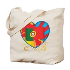 Portugese Heart Tote Bag