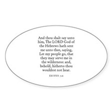 EXODUS 7:16 Oval Decal