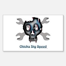 Chicks dig speed Rectangle Decal